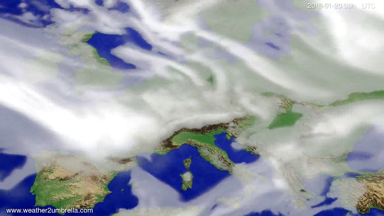 Cloud forecast Europe 2018-01-17