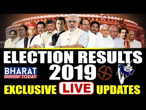 Live #electionresults2019 : Exclusive Updates From Bharat Today || Tdp Vs Ycp || Bjp Vs Congress