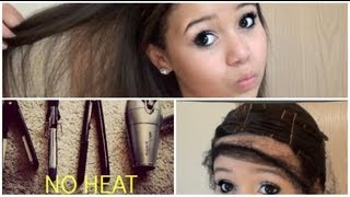 Straight Hair with NO HEAT! - YouTube
