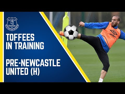 Video: TOFFEES IN TRAINING: PRE-NEWCASTLE (H)