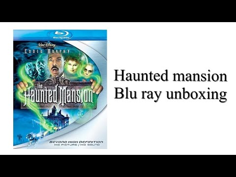 Haunted mansion blu ray unboxing
