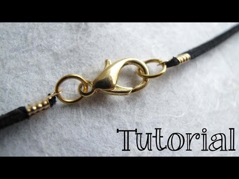 How to Finish a Leather or Cord Necklace - DIY Jewelry Tutorial
