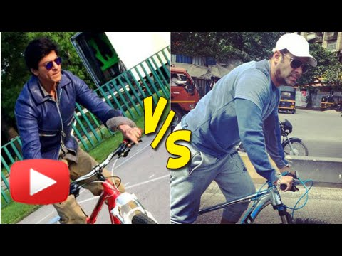 Shahrukh Khan Copies Salman? Cycles on Streets of