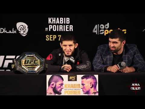 Islam Makhachev UFC 242 Post Fight Press Conference
