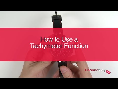 How To: Use a Tachymeter Function