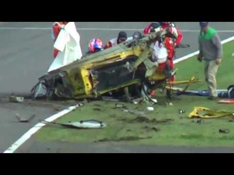 Ferrari 458 is instantly demolished during crash at Suzuka