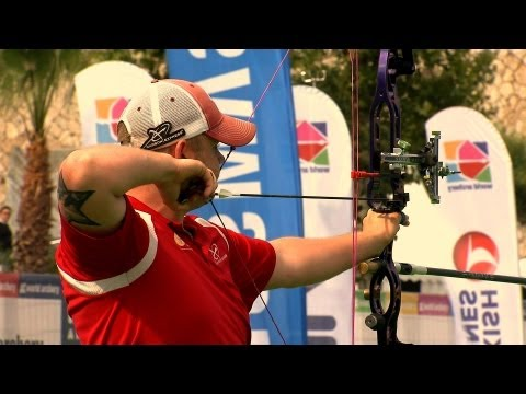 compound - Compound Men Gold Match from the second stage of the Archery World Cup 2013 in Antalya (TUR) Georg DOLLINGER (AUT) vs Patrick LAURSEN (DEN) Commentators : Ca...