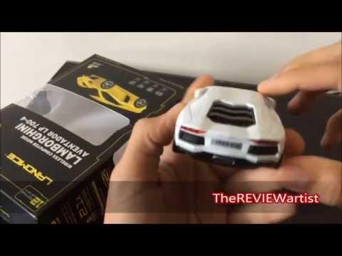 LANDMICE Lamborghini AVENTADOR mouse review!