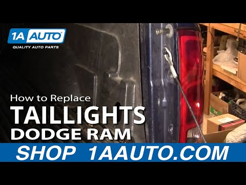 How To Install Repair Replace Broken Taillight Lens Dodge Ram 02-08 1AAuto.com