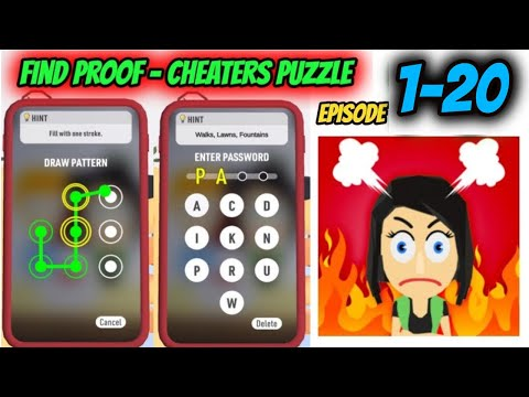 How to Solve Find Proof - Cheaters puzzle Game Episode From 1 - 20  | By FTY | game of puzzle