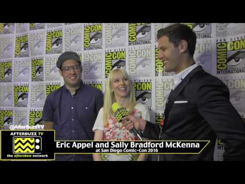 Eric Appel and Sally Bradford McKenna (Son of Zorn) at San Diego Comic-Con 2016