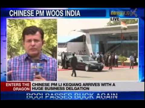 chinese - NewsX: Chinese Premier Li Keqiang arrived here Sunday on a three-day state visit, his first overseas trip after assuming office in March, during which he wil...