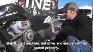 9. How to change a belt on a 2013 Polaris PRO RMK snowmobile