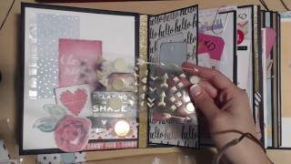 I used Kath Orta-Kings My Design Mini Album with the faux post binding. This was a kit from 2014. I finally got around to making it...