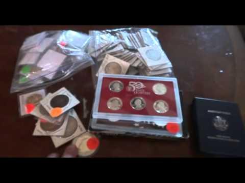 Silver Treasure Yard Sale / Garage Sale Finds!!  COINS BULLION