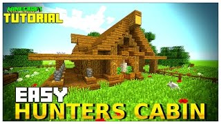 Minecraft: How To Build A Small Survival House Tutorial (survival cottage ) (Hunting Lodge) 2016