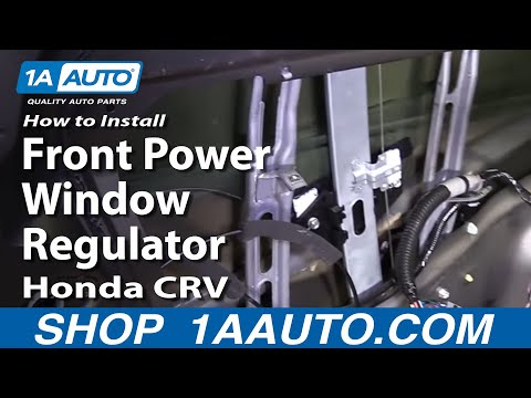 How To Install Replace Front Power Window Regulator Honda CR-V 02-06 1AAuto.com