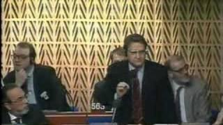 Intervento al Parlamento Europeo contro Bourlange