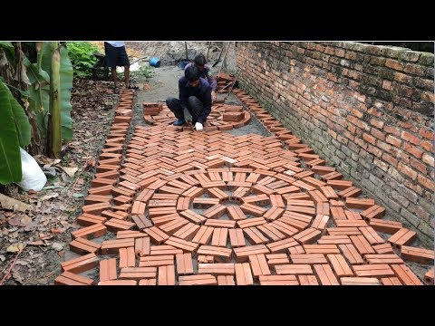 Creative Road Construction Skills Use Bricks And Mortar To Create Walkways - Bricklaying Is Art