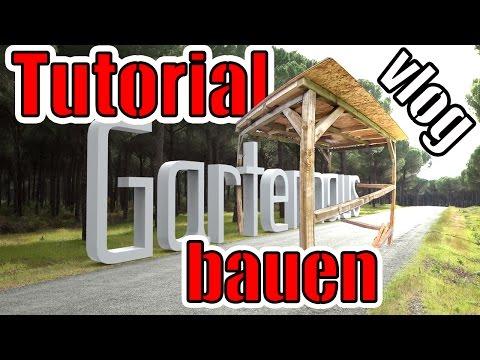 Gartenhaus bauen Anleitung | vlog Tag 7 | Holzschutzlasur 2 in 1 Test