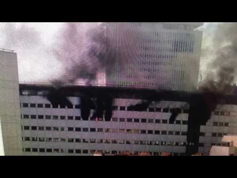 Paris - Massive Fire in Paris France at the