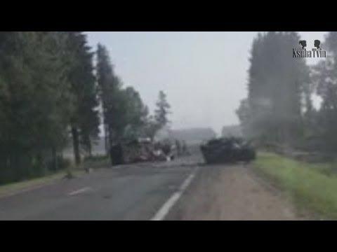 Лобовая авария на трассе под г.Орша