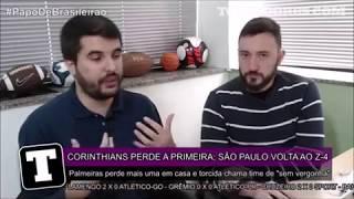 """No """"Papo de Brasileirão"""", Allan Simon e Eduardo Lucizano falam sobre como Palmeiras e São Paulo chegam para o clássico da..."""