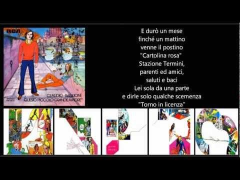 , title : 'CLAUDIO BAGLIONI - Cartolina rosa'