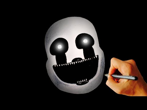 ♥ How to draw Nightmarionne from FNAF 4 Halloween edition Drawing ...
