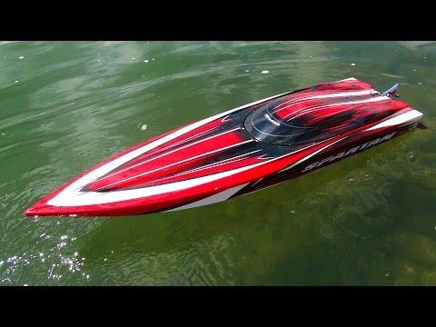 boat - Click Here To Subscribe! ▻ http://bit.ly/JOovvU - I pulled out my 8400mah 3s GensAce Lipo batteries and slapped them into my Traxxas Spartan, AFTER I adjusted my bottom blades. WOW. This...
