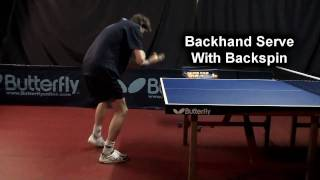 #15 Backhand Serve with Backspin