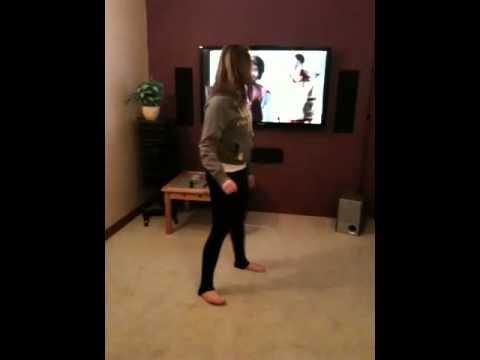Chloe doing her moves!