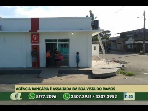 Agência bancária é assaltada em boa vista do ramos, município de Manaus