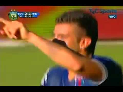 Gol de Denis Stracqualursi a Boca.