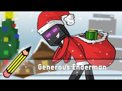 Generous Enderman (Christmas special - drawing timelapse)