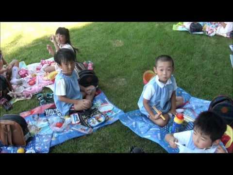 園外保育・お昼ご飯(年長) 笠間市 ともべ幼稚園 園長ブロ