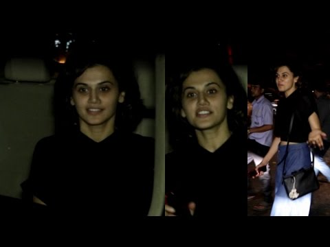 Tapsee Pannu Spotted At Juhu