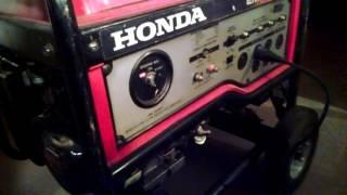 9. Honda EM6500sx generator running