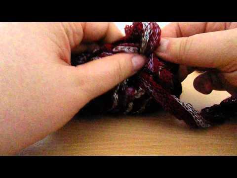 Loop Finger Strick Schal Teil 2