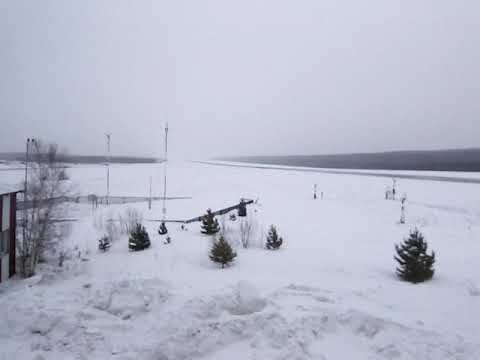 Взлет Боинг-747 ЭйрБриджКарго  в Красноярске 16.01.2018
