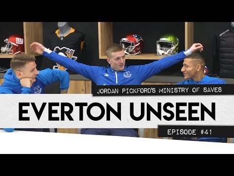 Video: JORDAN PICKFORD'S MINISTRY OF SAVES! | EVERTON UNSEEN #41