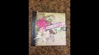 "Mini album  Scrapbook album for sale by Shellie Geigle of J & S Hobbies and Crafts. This mini album is a 6-1/2"" x 6-1/2"" size using Heartfelt Creations Classic Petunia paper.  One is available at https://jshobbiesandcrafts.com/?product_cat=mini-albums-craftsIf you'd like to take a free mini album scrapbook album tutorial using the same paper or similar layout inside, check out this tutorial https://youtu.be/g7M3xf9duEw"