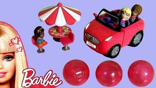 Barbie Squinkies Dream Car Playset&Disney Princess Belle Squinkies Bubble Pack mini toys