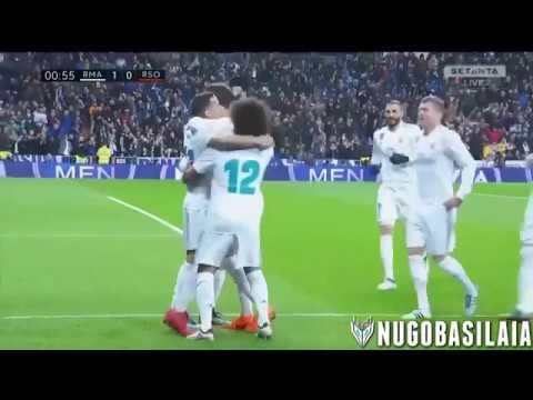 Real Madrid Vs Real Sociedad 5 2   All Goals & Highlights   Resumen y Goles 10022018 HD