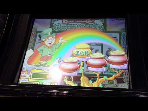 Leprechaun's Gold Gettin' Lucky Slot Machine Bonus Win (queenslots)