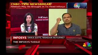 After the Bell | Infosys: Nandan To Return? | 23rd Aug 2017 - CNBC-TV18