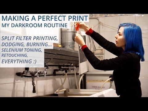 My darkroom printing routine