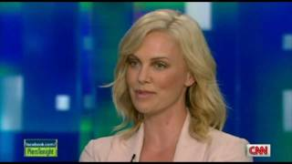 Charlize Theron Speaks Afrikaans on CNN Piers Morgan Tonight.
