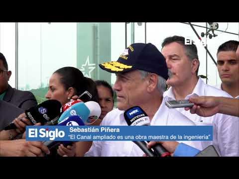 """Sebastián Piñera: """"El Canal ampliado es una obra maestra de la ingeniería""""."""