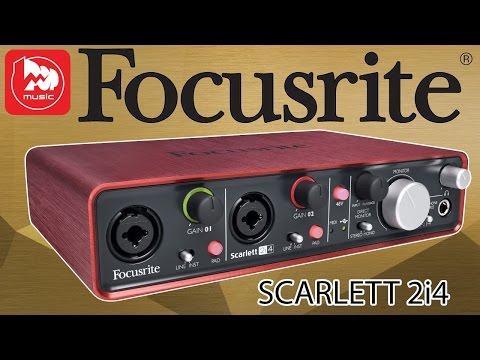Аудио интерфейс focusrite scarlett 2i4 (оптимальная звуковая карта для домашней студии)